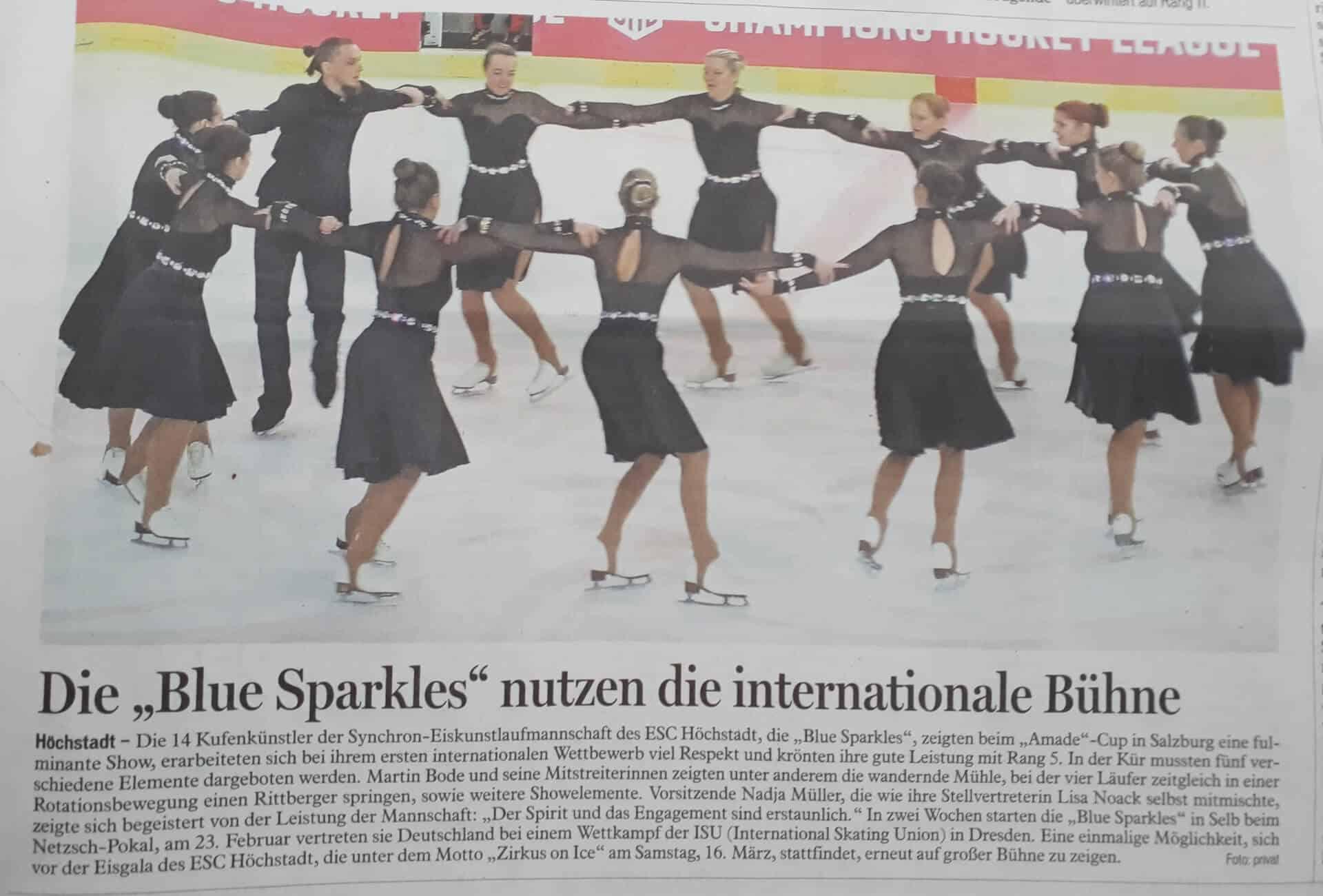 Presse Synchron Eiskunstlauf ESC Höchstadt