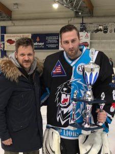 Eishockey Blue Lions Goalie