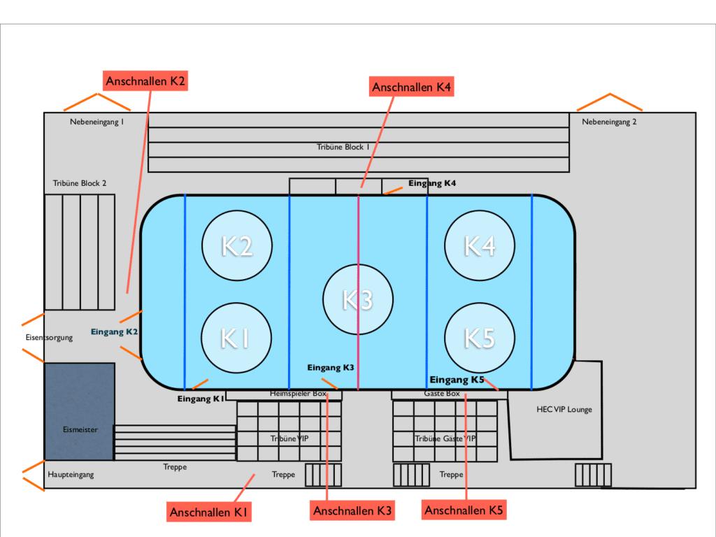 Eishalle Höchstadt Hallenplan